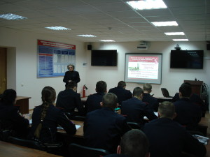 Обучающие занятия в институте МВД